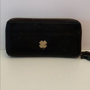LUCKY BRAND BLACK LEATHER DEL REY WALLET